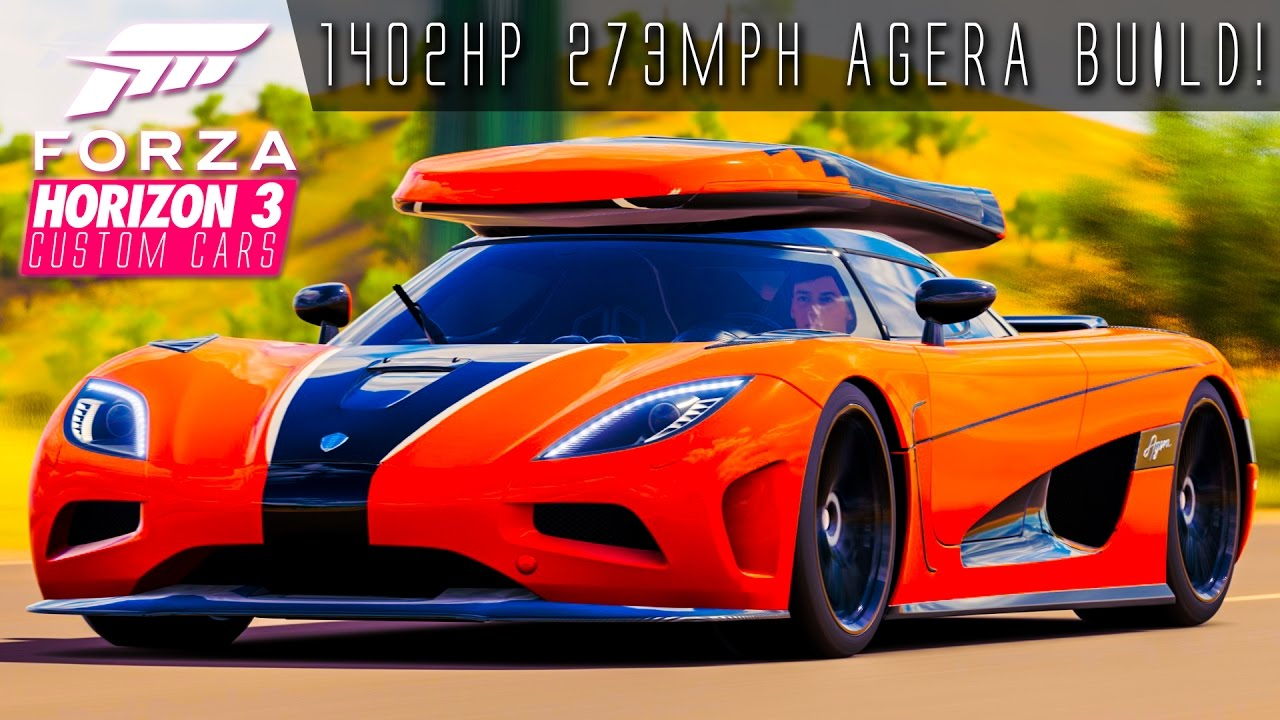 1402hp 273mph agera with roof box build forza horizon 3 custom cars 24 youtube. Black Bedroom Furniture Sets. Home Design Ideas