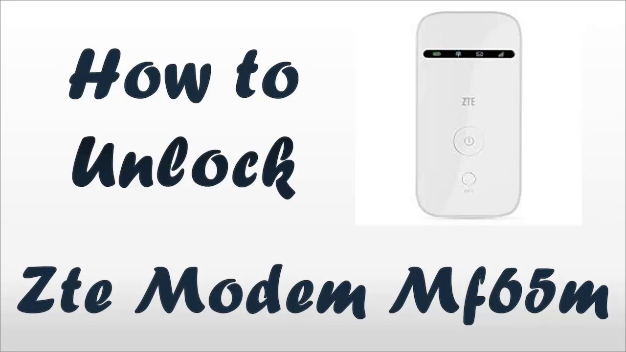 How to unlock ZTE mf65m USB MODEM by imei - All carrier