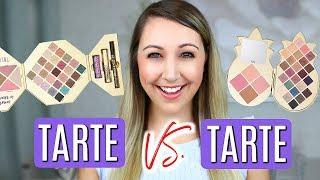 BATTLE OF THE TARTE HOLIDAY SETS 2018! | Tarte Sweet Escape vs. Tarte Pineapple Of My Eye