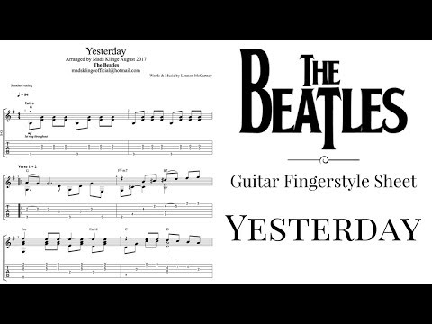 The Beatles - Yesterday (Guitar fingerstyle tabs and sheet) FREE!