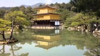 Япония. Киото. Золотой павильон(Одна из главных достопримечательностей древней столицы Японии города Киото - это золотой павильон., 2015-03-31T21:57:13.000Z)