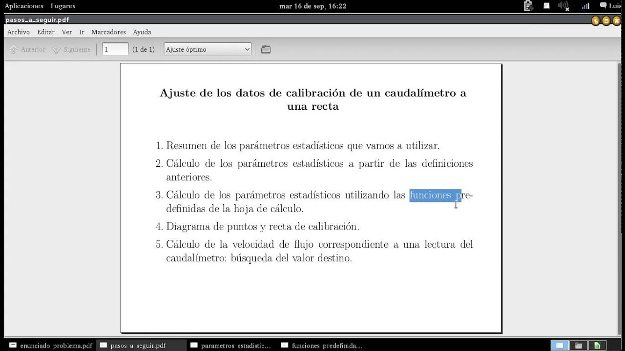 Regresión utilizando hoja de cálculo LibreOffice Calc - YouTube