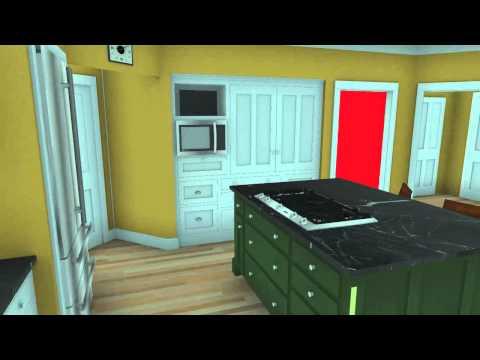 Kitchen Design Virtual kitchen design - 3d rendering virtual walk through - youtube