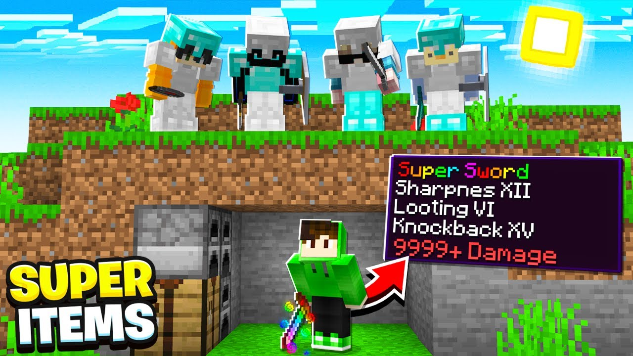 Minecraft Manhunt, But You Can Craft Super Items...