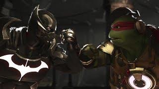 Injustice 2 : Batman Vs Raphael (TMNT) - All Intro/Outro, Clash Dialogues, Super Moves