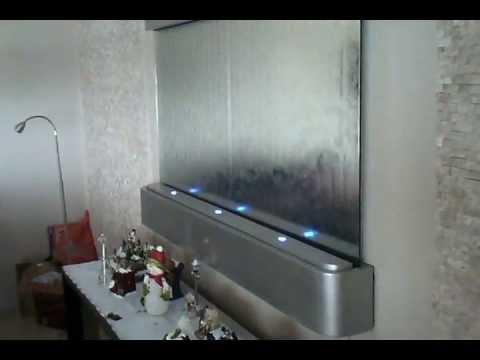 Cortina de gua de parede youtube - Paredes de agua para interiores ...