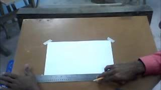 Drawing a border to demonstrate how to properly use the T Square an...