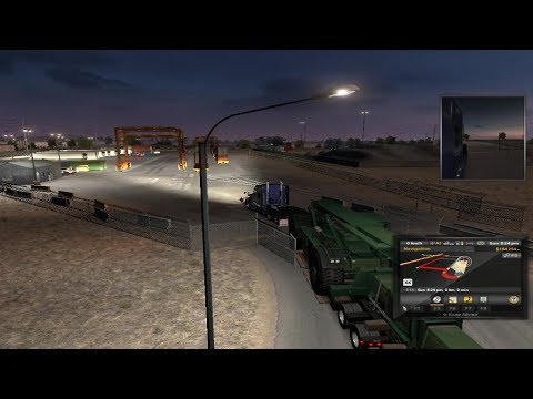 Heavy Cargo Delivery (Lift Truck) From Phoenix To Albuerque On American Truck Simulator