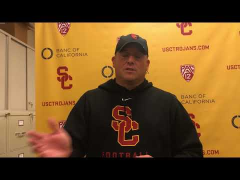 USC Football - Cotton Bowl Practice #3: Clay Helton