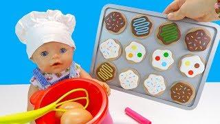 Как Мама Маша и Беби Бон Алиса Пекли Домашнее Печенье Мультик для детей Куклы Пупсики