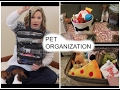 PET ORGANIZATION! How we organize all our pet supplies, treats, food etc..