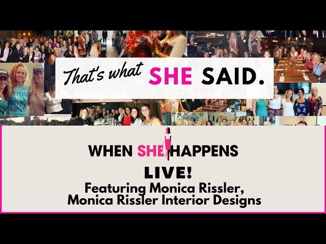 A conversation with Monica Rissler, Interior Designer