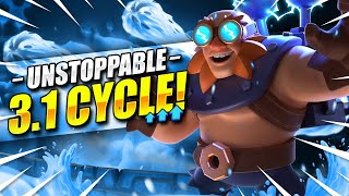CANT DEFEND THIS!! NEW 3.1 ELECTRO GIANT CYCLE DESTROYS EVERYTHING!! Clash Royale Electro Giant Deck