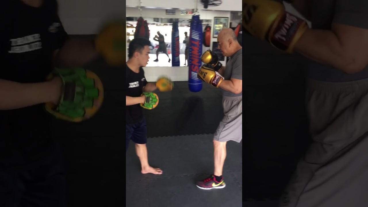 john lee mitt workout with jenjer at team insider boxing