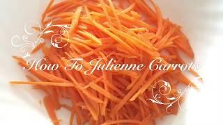 Life Hacks: How T๐ Cut Carrot into Strips With No Effort / 切蘿白絲有辦法 / 人参の千切り方法失敗なし