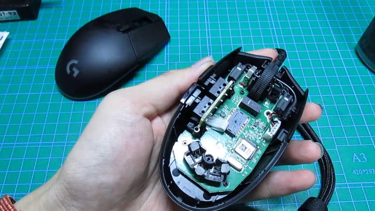 Logitech G Pro ゲーミングマウス 分解動画 - YouTube