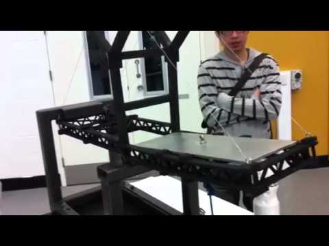 QUT ENB110 Civil Project - Model Bridge testing (part 2 of 2)