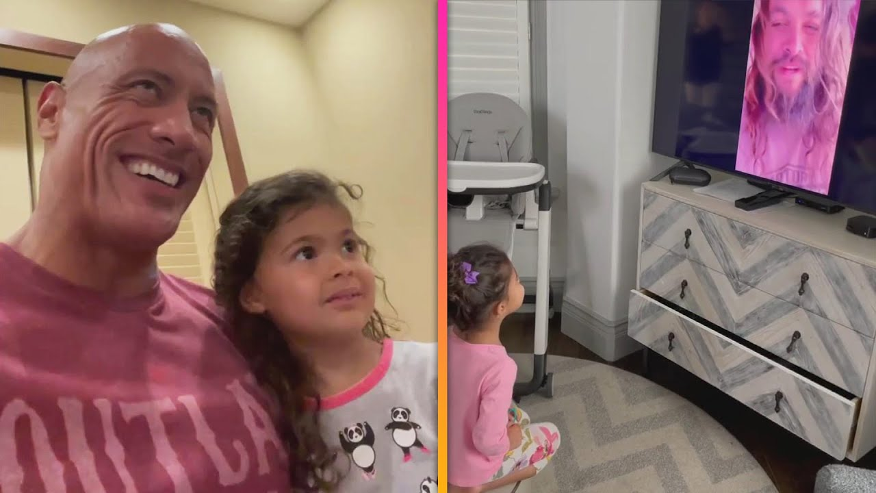 Dwayne Johnson's Daughter REACTS to SURPRISE Video From Jason Momoa