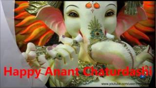 Happy Anant chaturdashi 2016- Ganesh Visarjan wishes, Sms, Greetings, Whatsapp video message