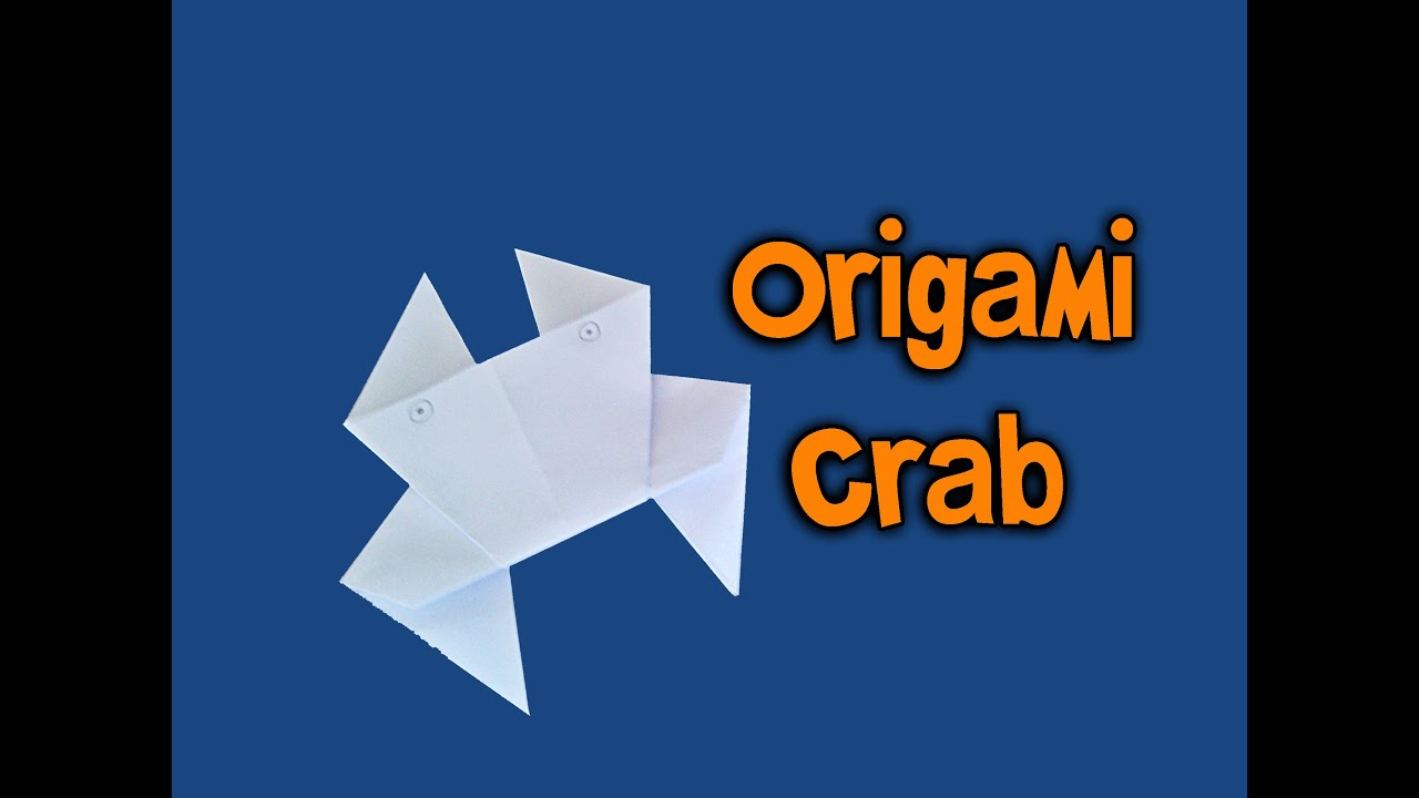 How to make a origami crab youtube