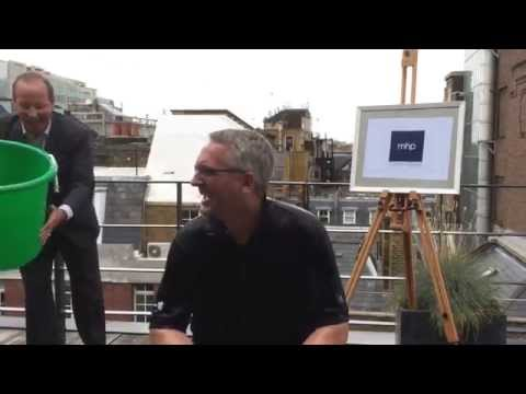 Gavin Devine (MHP Communications) takes on the ice bucket challenge