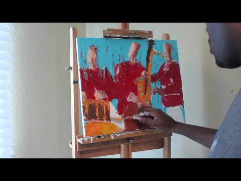 Acrylic Painting Techniques: Palette Knife Jazz Painting Using Acrylic Paint