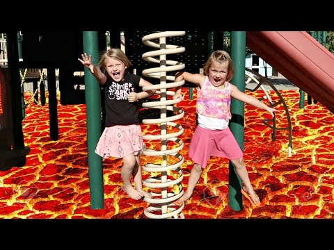 THE FLOOR IS LAVA AT A PARK!!!
