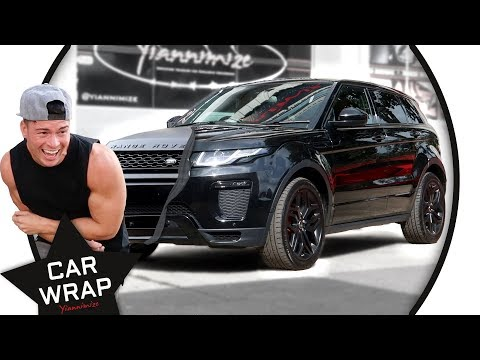 Joel Corry's Range Rover Evoque wrapped a Stealth Satin Black!