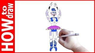 How to draw Ballora, FNAF Sister Location, Как нарисовать Баллору