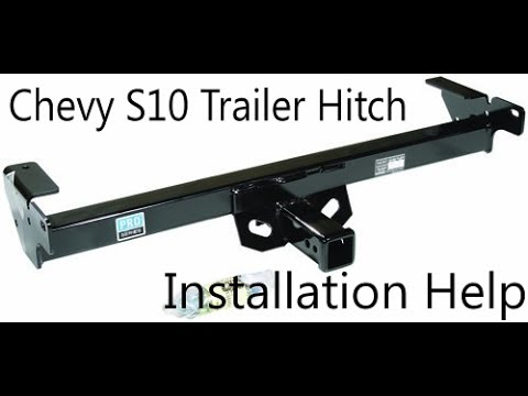 2000 chevy s10 trailer hitch attachment, how to