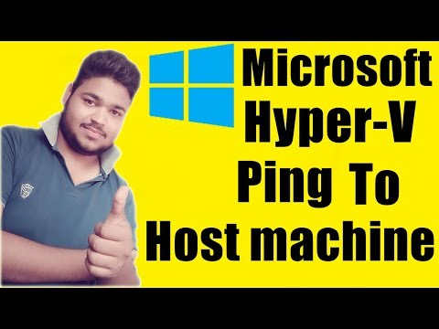 [Hindi]How to ping Hyper-V to Host Machine | Connect virtual machine to physical machine |