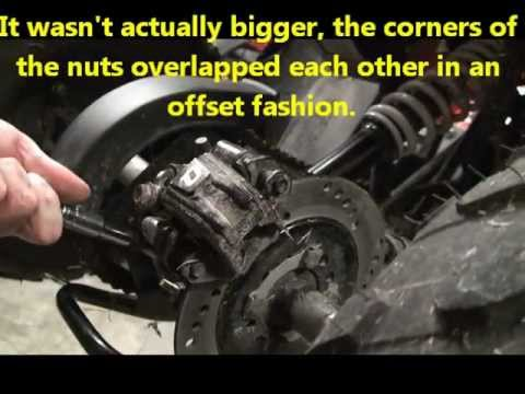 Adjusting the chain on 110cc and 125cc atv youtube sciox Choice Image