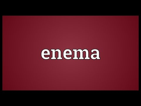 Enema Meaning