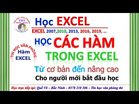 Tự học các HÀM trong EXCEL | Học Các HÀM EXCEL cấp tốc | Tin học văn phòng excel