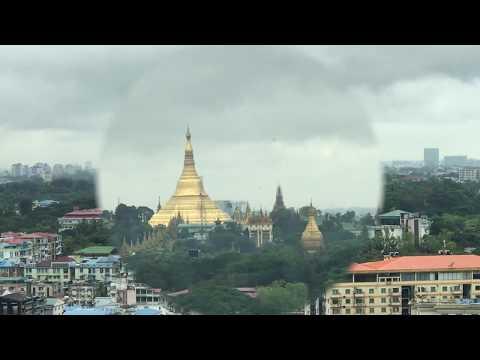 Down Town Yangon view from Sakura Tower 2018 , Myanmar.