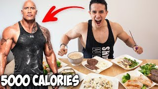 JE MANGE COMME THE ROCK PENDANT 24H  !!