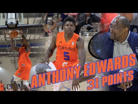 Anthony Edwards Drops 31 Points in front of Patrick Ewing!! Raw Highlights