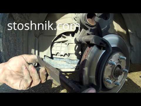Как заменить передние тормозные колодки Тойота Камри 2008 гв/ How To Replace The Front Brake Pads