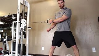 Important Physical Exercise For Swing Sports Injuries: Cable Woodchops