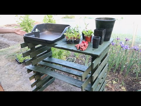how-to-make-a-diy-pallet-potting-bench/table