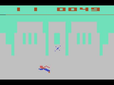 "Atari 2600 Superman ""No bridge explode"" cheat"