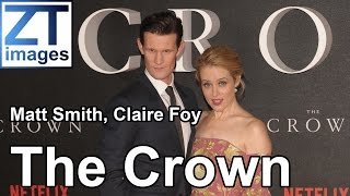 Matt Smith, Claire Foy, Vanessa Kirby, Gillian Anderson The premiere 'The Crown' London, UK.