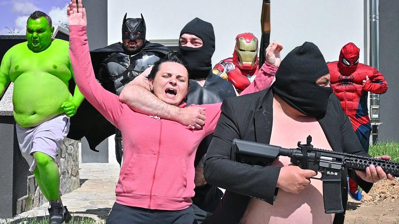 Superheroes Saves The Girl
