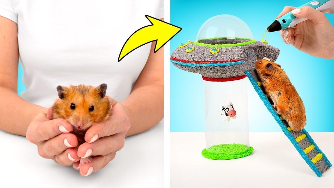 3D 펜으로 만드는 DIY 햄스터 UFO