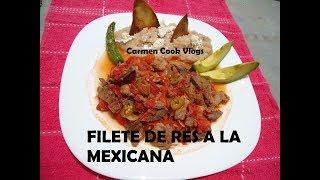FILETE DE RES A LA MEXICANA | Carmen Cook Vlogs