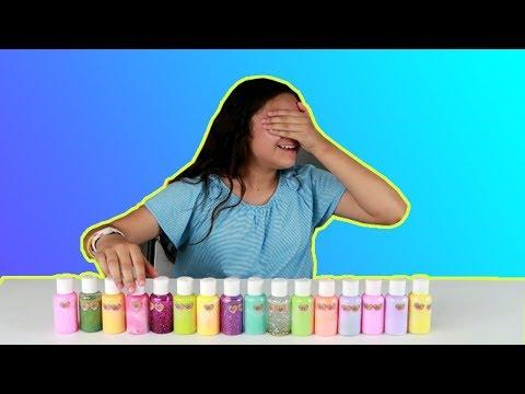 3 COLORS OF GLUE Slime Challenge. 3 Colores de pegamento o cola para hacer Slime muy kawaii