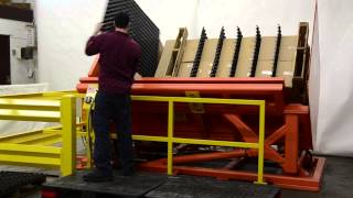 V-bed - Freezer Spacer Removal Machine - Double Stacked Loads