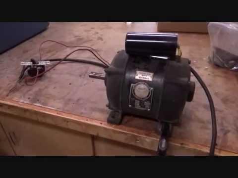 Walker Turner Drill Press Motor Start Up