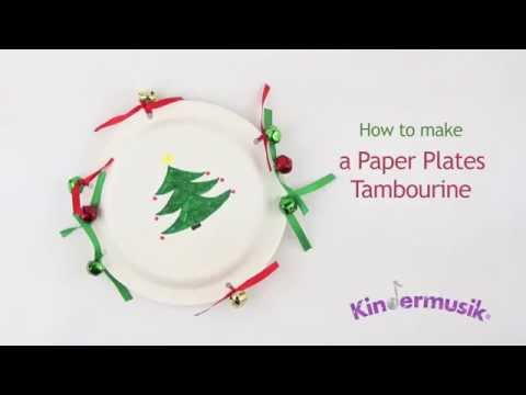 How to Make a Paper Plates Tambourine  sc 1 st  YouTube & How to Make a Paper Plates Tambourine - YouTube