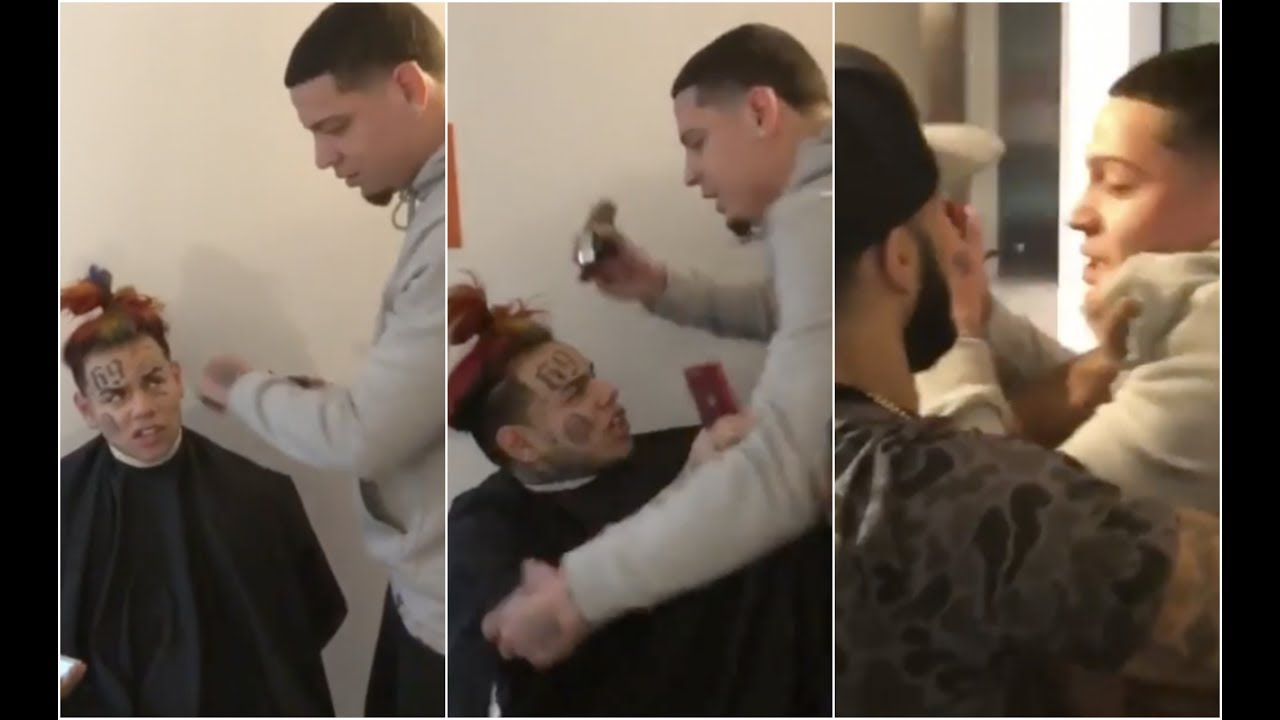 6ix9ine Goes Off On Barber For Messing Up His Hair Cut Youtube